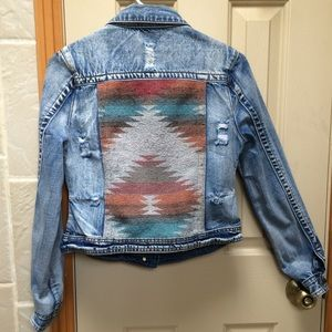 White crow jean jacket
